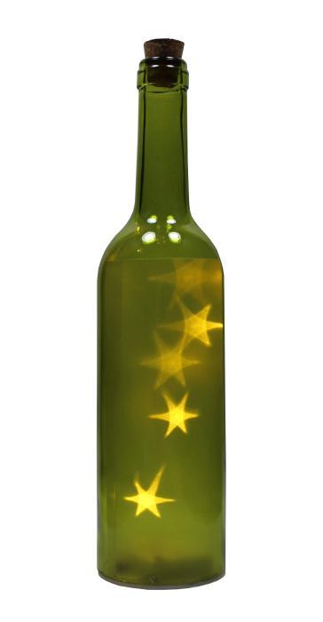 verpackungen f r alle flasche mit led lichterkette stern glas gr n kompl ink presskorken. Black Bedroom Furniture Sets. Home Design Ideas