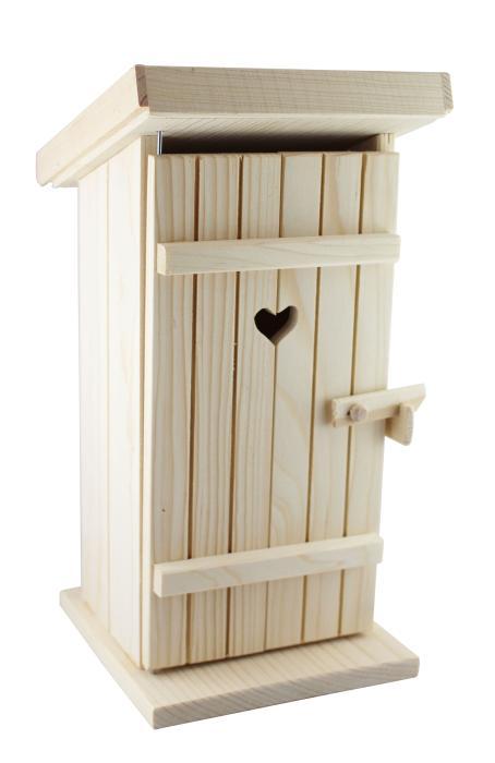 verpackungen f r alle wc h uschen aus holz mit loch f r flasche oder b chse lieferung ohne. Black Bedroom Furniture Sets. Home Design Ideas