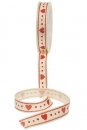 Stoffband Country Herz creme/rot 15mm, 3m